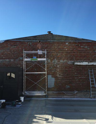 préparation mur extérieur