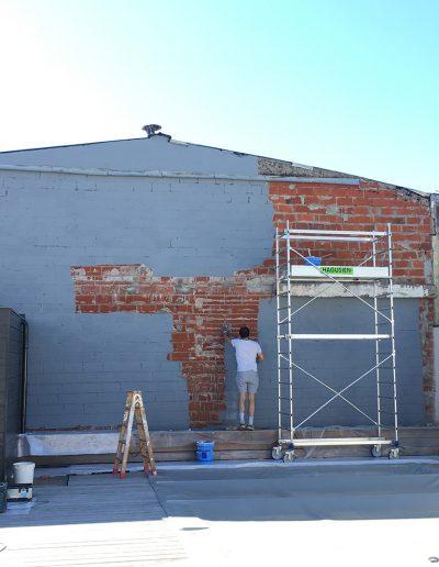 peinture mur brut extérieur