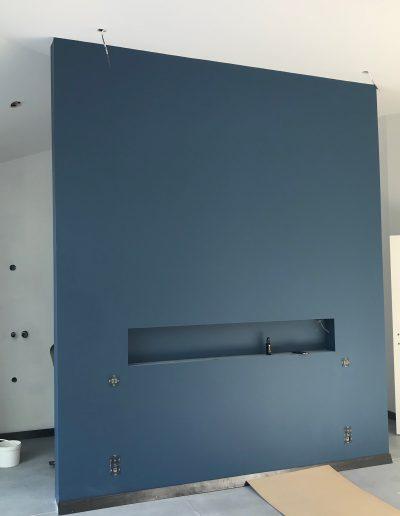 peinture murs de couleur bleu