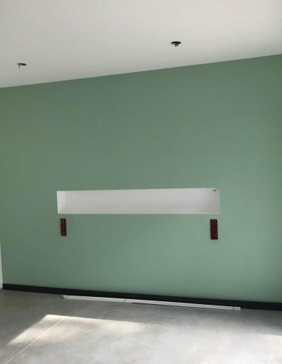 peinture mur de couleur